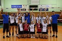 Bronzové družstvo juniorských volejbalistek Přerova