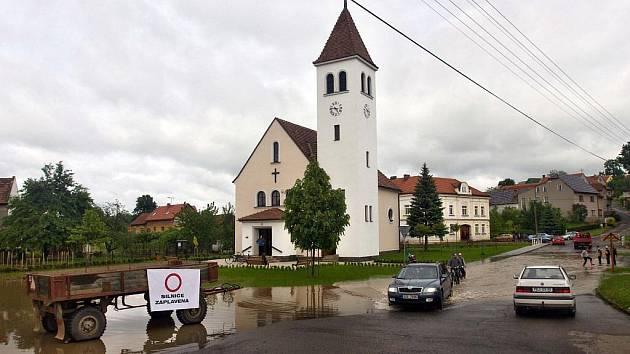 Ústí u Hranic - záplavy. Ilustrační foto