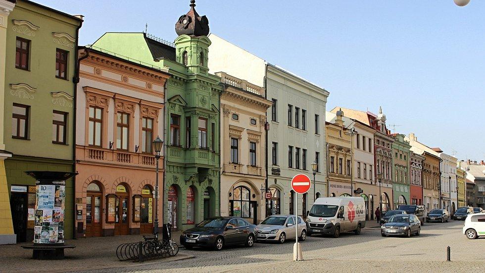 Masarykovo náměstí v Hranicích.