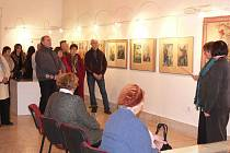 Výstava obrazů Jožky Barucha s názvem Balada i pohádka