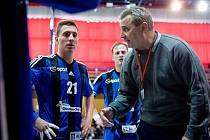 Trenér házenkářů Hranic Miroslav Bartoň