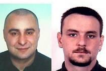 Policie vyhlásila pátrání po Romanu Lackovi (vlevo) a Radimu Loučkovi (vpravo).