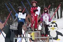 Vyhlášení vítězů po závěrečných závodech ve Ski areálu Potštát