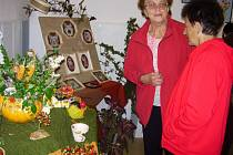 Výstava prací seniorů.
