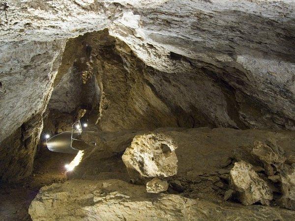 Jurikův dóm ve Zbrašovských aragonitových jeskyních vTeplicích nad Bečvou