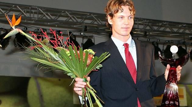 Tomáš Berdych vyhrál potřetí v řadě Zlatého kanára pro nejlepšího tenistu České republiky.