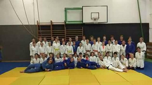 Oddíl Judo Hranice na soustředění v Potštátu v roce 2018.
