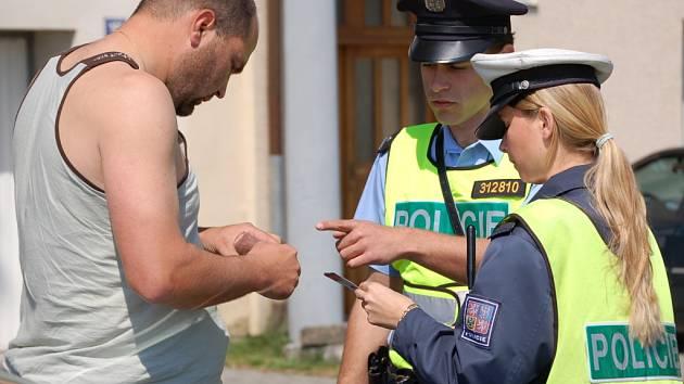 Olomoucká policie rozdávala pokuty.