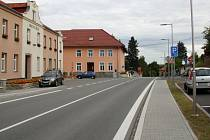 Centrum Bělotína po první etapě revitalizace