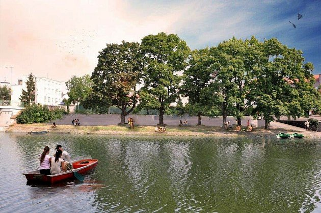 Architekt Tomáš Kočnar navrhl zastupitelům města zajímavé řešení břehu řeky Bečva vKropáčově ulici