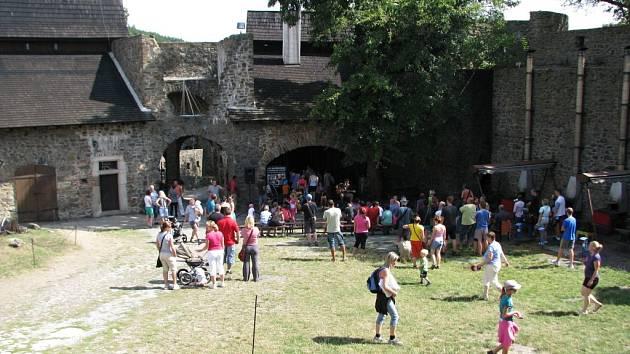 Nádvoří hradu Helfštýna