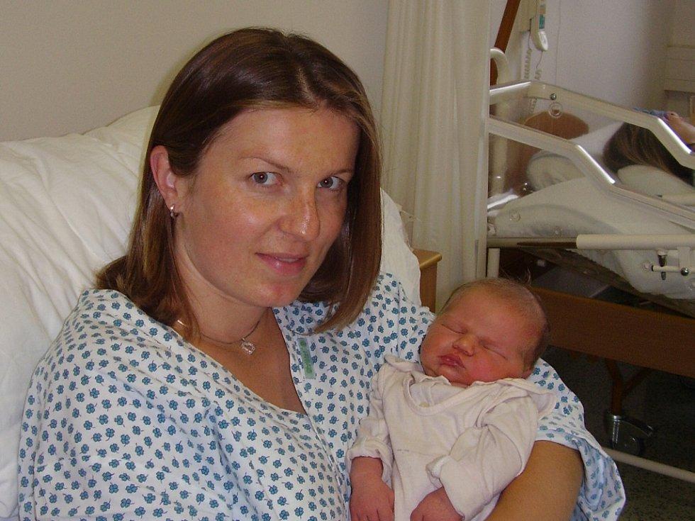 Lenka Sochorová, Přerov, dcera Eliška Sochorová, narozena 22. července v Přerově, míra 51 cm, váha 3730 g