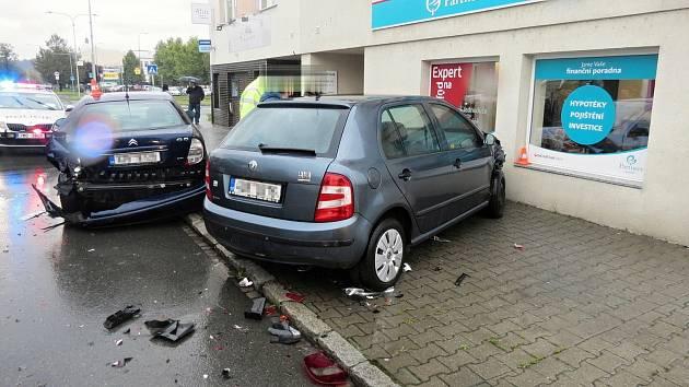Dopravní nehoda vHranicích na třídě 1. máje v úterý 13. října.