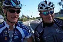 Jiří Klíma s Tomášem Zobaníkem obsadili na Svatováclavské časovce dvojic čtvrtou příčku s průměrem 43.53 kilometrů za hodinu.