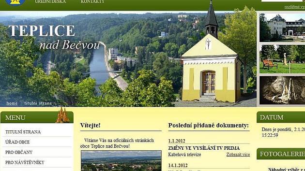 Nový web Teplic nad Bečvou