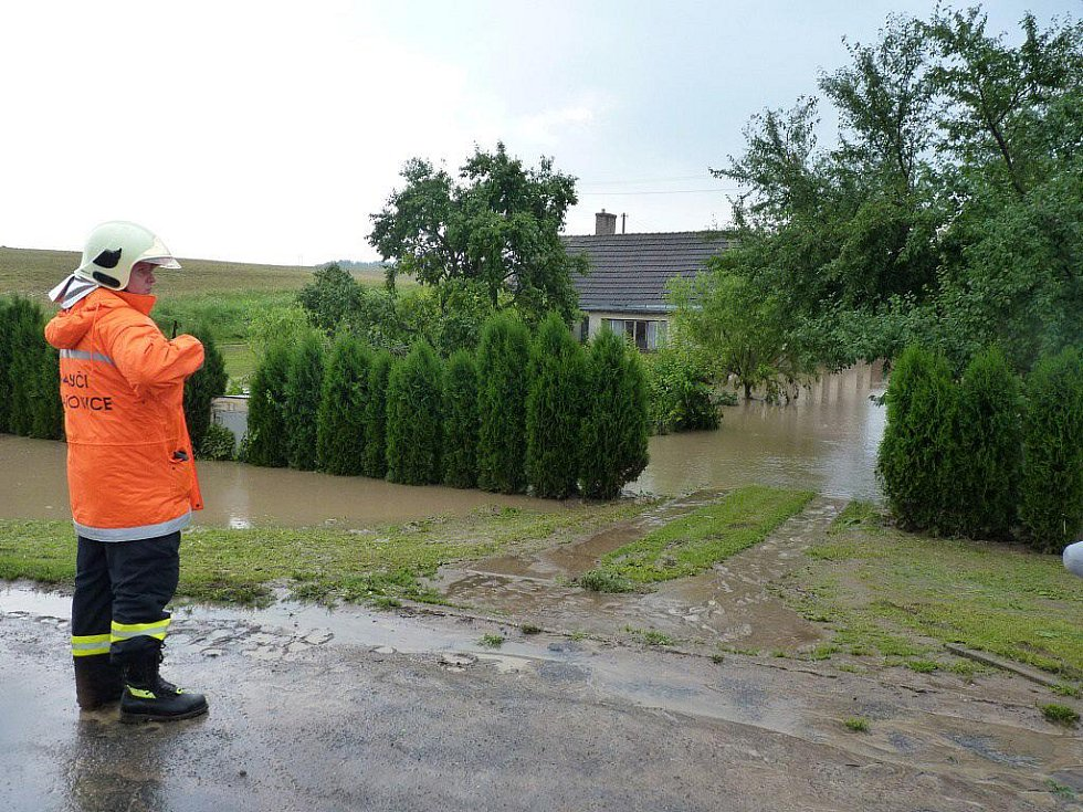 Blesková povodeň ve Všechovicích