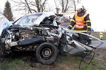 Tragická srážka u obce Polom, řidič osobního vozu střet nepřežil