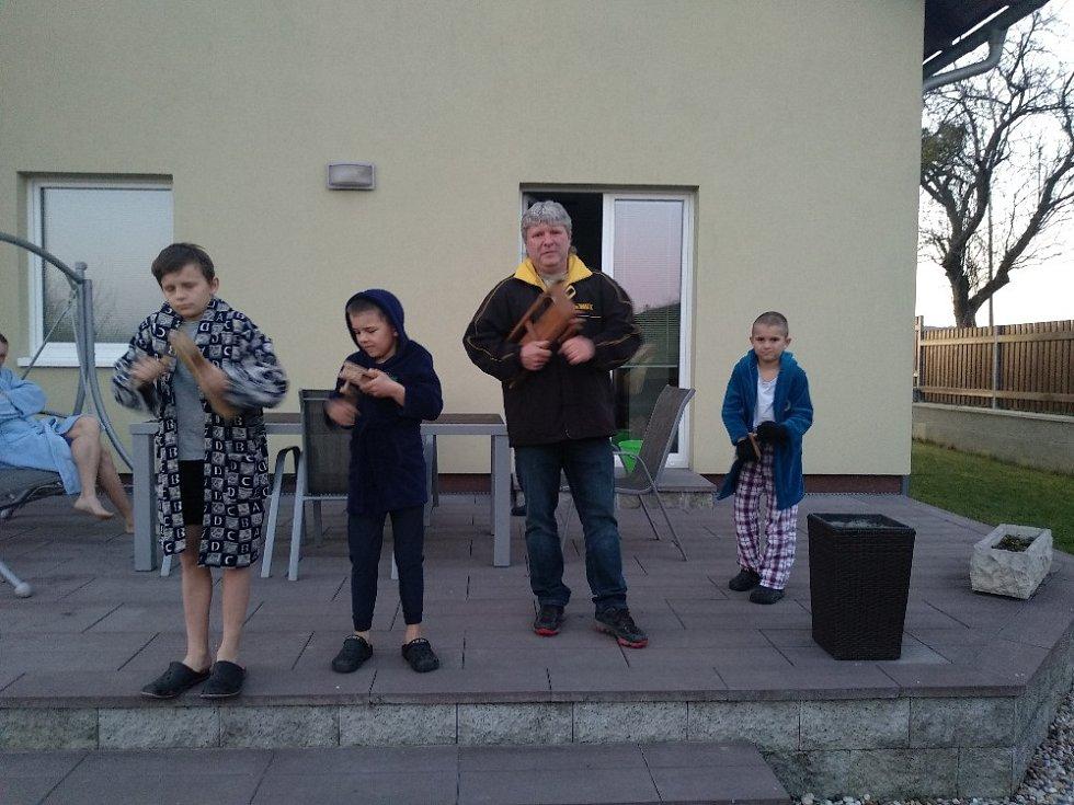 Velikonoční klapotání vMalhoticích.