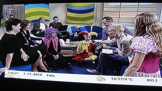 V Dobrém ránu s Českou televizí vystoupili protagonisté muzikálu Růženka ze ZUŠ z Hranic a Lipníku