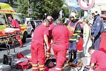 Vážná dopravní nehoda se stala v neděli na křižovatce ulic Jeremenkovy a 17. listopadu v Šumperku.