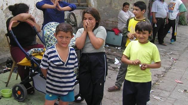 V ghettu U svaté Anny bydlelo asi tři sta Romů.
