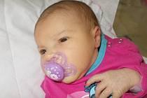 Tereza Moravcová, Přerov, narozena dne 2. října 2015 v Přerově, míra: 48 cm, váha: 3360 g
