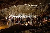 Zbrašovské aragonitové jeskyně, 29. července 2021 v Teplicích nad Bečvou.