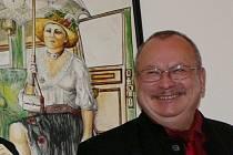 Vernisáž výstavy Libora Beneše na hranickém zámku