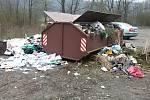 Lidé místo biologicky rozložitelného odpadu jako je tráva, listí nebo větve házeli do kontejnerů pneumatiky, stavební suť, nábytek a jiné odpady.