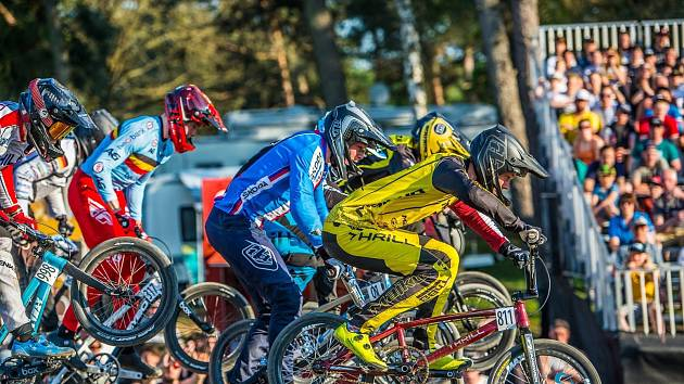 Hranický jezdec BMX a reprezentant ČR Adam Hladík na Evropském poháru v belgickém Zolderu.