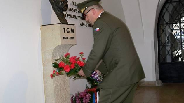 Uctění památky Tomáše Garrigue Masaryka v Hranicích