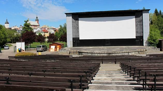 Letní kino v Hranicích. Ilustrační foto