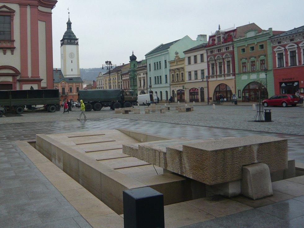 2. náměstí TGM s kašnou