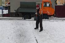 Před rokem - leden 2013. Plynárenská ulice v Hranicích