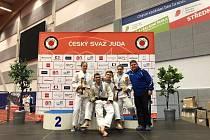 Úspěšní judisté Judo Železo Hranice na Českém poháru v Ostravě.