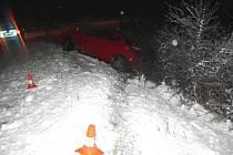 Noční dopravní nehoda mladého řidiče u hranické místní části Velká