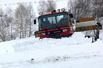 Na svahu v Kladkách leží momentálně 30 centimetrů sněhu.