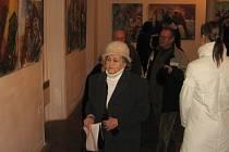 Slavnostní vernisáž si ve čtvrtek 22. ledna nenechaly ujít asi dvě desítky návštěvníků.