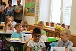 První den ve škole na Základní škole Šromotovo v Hranicích.
