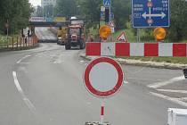 Železniční podjezd v Předmostí bude uzavřený nejméně do 31. října.