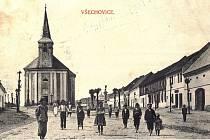 Všechovice - historické foto