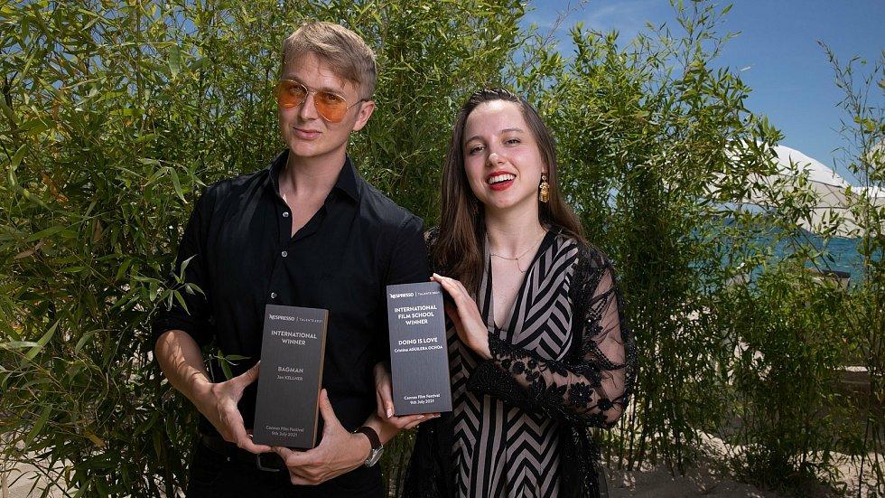 Jan Kellner a Cristina Aguilera Ochoa, která za snímek Doing is Love získala Cenu kategorie filmových škol.
