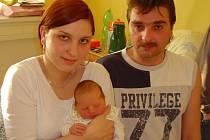 Michael Lukeš, Chropyně, narozen 6. 1. 2009 v Přerově, míra 51 cm, váha 3 590 g