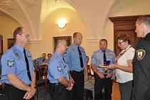 Hraničtí strážníci oslavili dvacet let svého působení ve městě