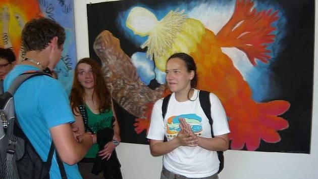 Výstavu studentů hranického gymnázia