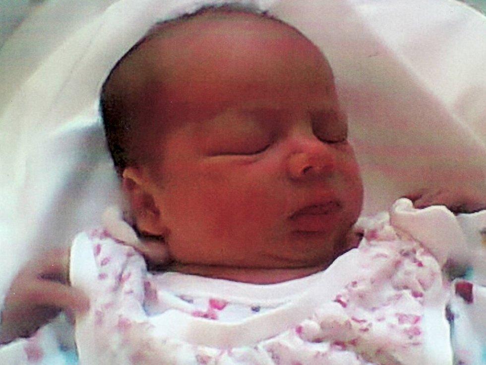 Martina Šroomotová, Kokory, narozena dne 23. ledna 2014 v Olomouci, míra 50 cm, váha: 3335 g