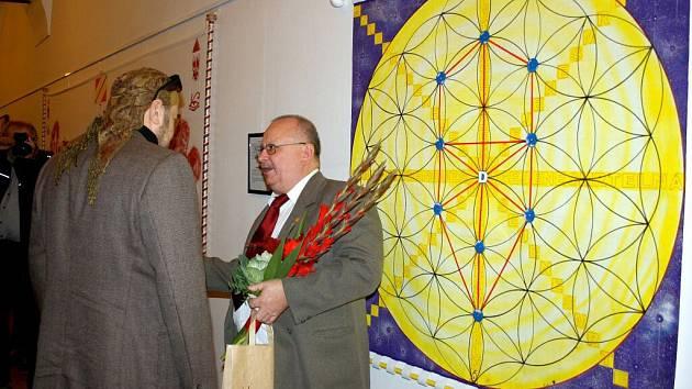 Vernisáž výstavy Libora Beneše v severním křídle hranického zámku