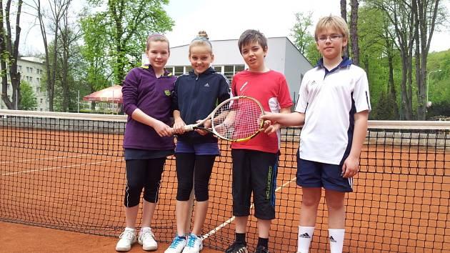 Mladší žáci Slovanu Hranice (na snímku) porazili své kolegy z Tondachu Hranice