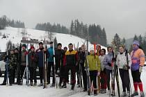 Skupinka vodáků si zpříjemnila zimní přípravu na sezonu na běžkách