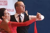 Martin a Jitka Novkovi z A-klubu Hranice na soutěži v Brně.